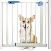 Heavy Duty Easy Open Walk-Thru Steel Safety Gate - Great for Pets and Toddlers!