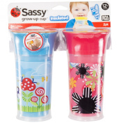 Sassy Insulated Grow Up Cup, Pink/Blue, 270ml