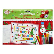 """Christmas Scene """"Make Your Own Mosaic Picture and Frame"""" - 2 Pictures to Make, with Mosaic and Other Stickers"""