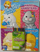 Zhu Zhu Pets Bundle (C) 96 Page Colouring & Activity Book. Plus One Pack of Twist-Up Crayons.