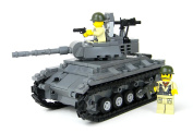 Deluxe US Army Chaffee Tank World War 2 Complete Set made w/ real LEGO® bricks - Battle Brick Custom Set