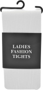 Adults Halloween Fancy Dress Party Accessory Microfibre Clubwear Tights White