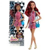 """Mattel Year 2014 Barbie Fashionistas """"Life in the Dreamhouse"""" Series 30cm Doll - GRACE in Pink Neck Strap Jumpsuit with Earrings and Purse"""