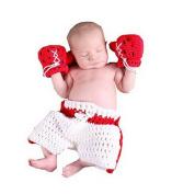 Lanue® Baby Newborn Boxing Crochet Knitted Costume Glove Pants Photo Photography