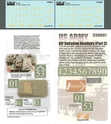 Echelon Fine Decal 1:35 US Army OIF Battalion Numbers Part.3 #D356061