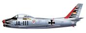 Hobby Master, Canadair Sabre Mk.6, JA-111, JG 71 Black Tulip, 1:72 Die Cast Model, HA4308