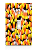 Candy Corn Design Light Switch Plate