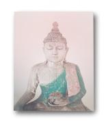 Children Inspire Design Buddha Art Print, 46cm x 60cm , Pink