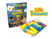 Throw And Go Plastic Stacking Blocks Similar To Jenga Toys - A Game Of Physical And Mental Skill - Great Gift For Children.