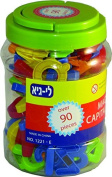 megcos Magnetic Capital Letters in a Jar, 90-Piece Model