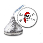 216 Pirate Labels/Stickers for Hershey's Kisses Candies - Party Favours