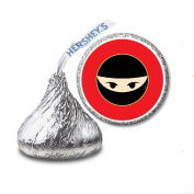 216 Ninja Martial Arts Labels/Stickers for Hershey's Kisses Candies - Party Favours