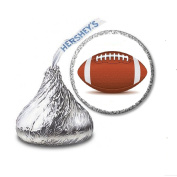 216 Football Labels/Stickers for Hershey's Kisses Candies - Party Favours