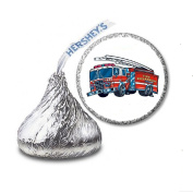 216 Fire Truck Engine Labels/Stickers for Hershey's Kisses Candies - Party Favours
