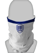 SNOOD NECK WARMER FACE MASK ENGLAND WHITE BLUE DESIGN MADE IN YORKSHIRE