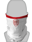 SNOOD NECK WARMER FACE MASK ENGLAND WHITE RED DESIGN MADE IN YORKSHIRE