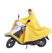 High Qality Motorcycle Waterproof Lengthen Rain Coat Women Men Big Raincoat Scooter Cape Poncho Yellow