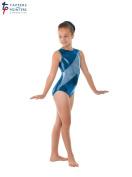 Tappers & Pointers Super Shiny Sleeveless Lycra Gymnastics Leotard- GYM12