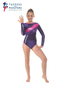 Tappers and Pointers Gymnastics Long Sleeved Leotard PLUS Matching Hair Scrunchie Sugar Plum Gym 34