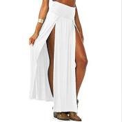 buytra Fashion Women Sexy Trends Double Slits Open Rayon Knit Long Maxi Skirt