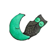 Baby Bedding Bright Light up Luminous Pillows Bulb Stuffed Doll Glow in the Dark Bright Eyes Owl Moon Decoration Soft Pillow Cushion Appease Toy