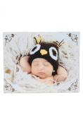 "Baby Canvas Print, Baby with Owl Hat, 48cm(19"") x 38cm"
