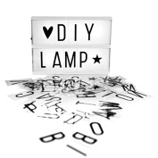 Lightbox with 85 Letters, Numbers and Symbols