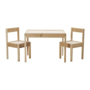 LÄTT - Children's Table With 2 Chairs, White, Pine