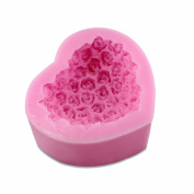 PsmGoods 3D Rose Flower Silicone Icing Mould Tray Handmade Soap Cake Sugar Baking Tools DIY Mould