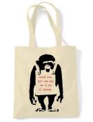 Banksy Laugh Now Monkey Tote \ Shoulder Bag