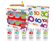 40th BIRTHDAY BALLOONS SERIES SHOT GLASSES - GIFT - PRESENT - PARTY