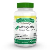 Health Thru Nutrition Ashwagandha 500mg Pure Ksm66 (Clinically Proven And Organic Root-Only Ashwagandha) 90 Vegecaps