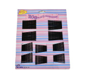 200 x TRIPPLE WAVE BLACK HAIR GRIPS/BOBBY PINS - assortment of 5cm & 6cm.
