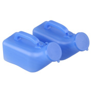Blue 1000ml Portable Camping Travel Car Toilet Male Mens Urine Urinal Bottle Pee Pack of 2
