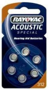 Rayovac Acoustic Special Type 312 Hearing Aid Batteries Zinc Air P312 PR41 ZL3 Pack of 60
