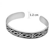 WithLoveSilver Sterling Silver 925 Celtic Infinity Bangle Bracelet