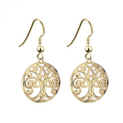 [S33254] Tree of Life Earrings Gold Plated