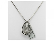 IGI Certified genuine REAL diamond 10K Solid White Gold pendant necklace #76