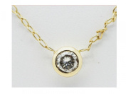 Vezel Set Genuine REAL diamond 14K Solid Yellow Gold pendant necklace #31