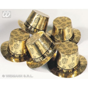 Gold Top Hat New Year Print for Eve Accessory