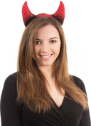 Halloween Horror Fancy Party Dress Accessory Devil Horns On Band Black/red