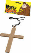Fancy Party Costume Accessory Religious Nun Vicar Priest Clergy Monks Cross Gold