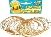 Adult Fancy Party Accessory Costume Jewellery Gold Bangle Bracelet Pack Of 50