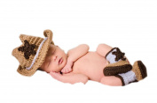 Newborn Baby Photography Prop Crochet Knitted Cowboy Hat Boots By Xselector