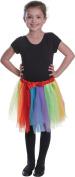 Girls Fancy Party Dress Week Day Dancewear Rainbow Colours Child Tutu Skirt