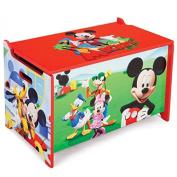 Disney Mickey Mouse Toy Box Wooden Toy Box Storage Box Toy Chest / Toy Box