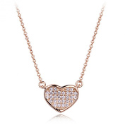 La Vivacita Heart necklace with. crystals 18K rose gold plated Quality gift Women