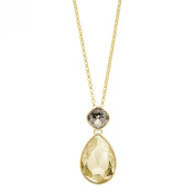 NOELANI Women's Necklace with Pendant Brass Partially Gold-Plated with. Elements Crystal 548762-80 CM Brown