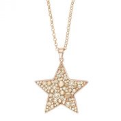 NOELANI Women's Necklace with Pendant. Elements Star Brass Crystal White 80 CM - 548861