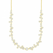 NOELANI Women's Necklace Without Pendant Brass Partially Gold-Plated with. Elements Crystals 45 CM White - 548045